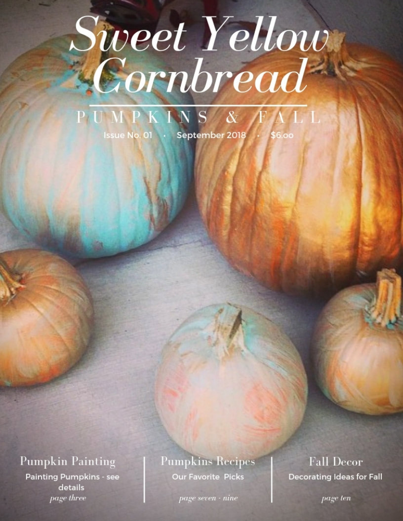 Sweet Yellow Cornbread, A Lifestyle/Food Blogger Fall Digital Magazine