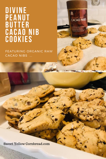 Divine Peanut Butter Cacao Nib Cookies, Soft Peanut Butter Cookies