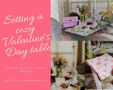 Setting a cozy Valentine's Day Table