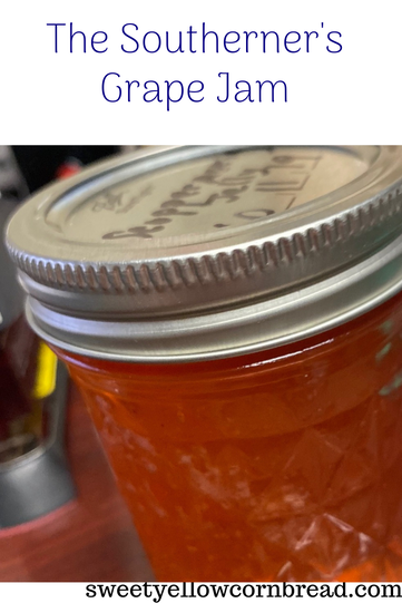 The Southerner's Grape Jam, A Pleasant Sweet Surprise, Sweet Yellow Cornbread, Southern Lifestyle Blog, Arkansas Food Blogger, Arkansas Lifestyle Blog, Southern Food Blog, Pat Downs, Sweet Yellow Cornbread